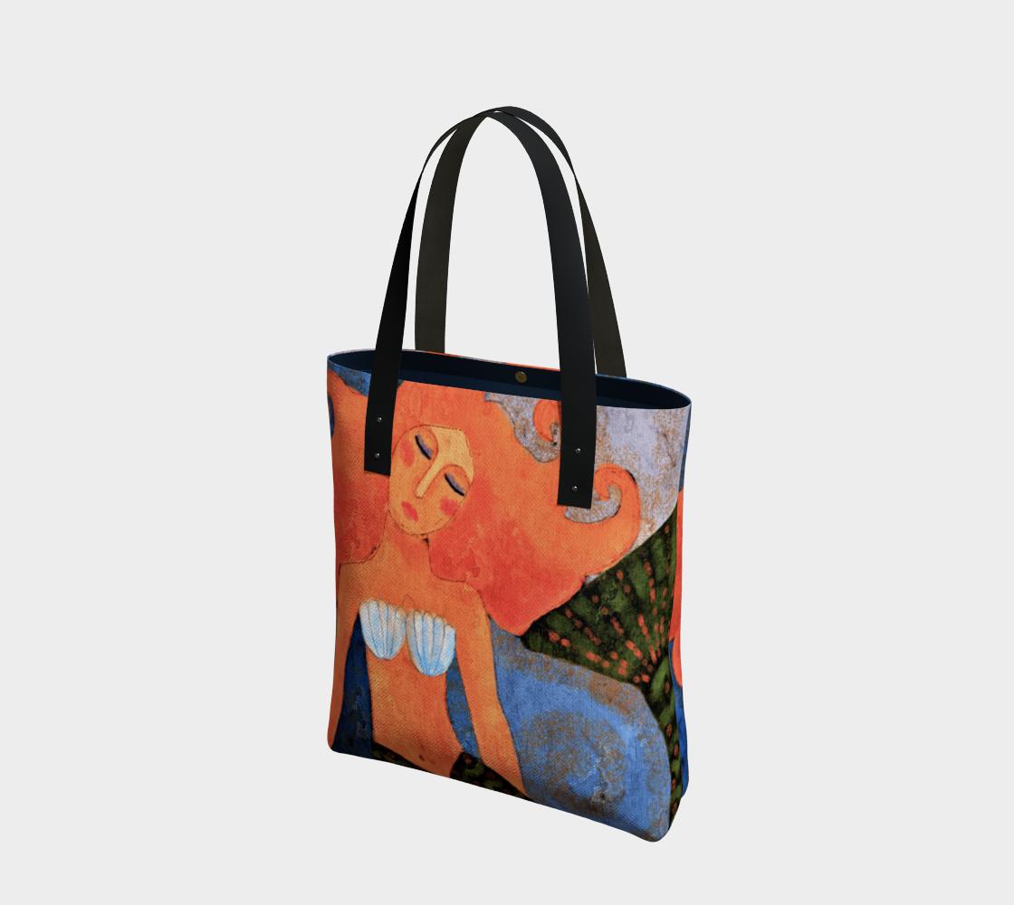 Aperçu de Lovely Mermaid Abstract Digital Painting Shoulder Bag