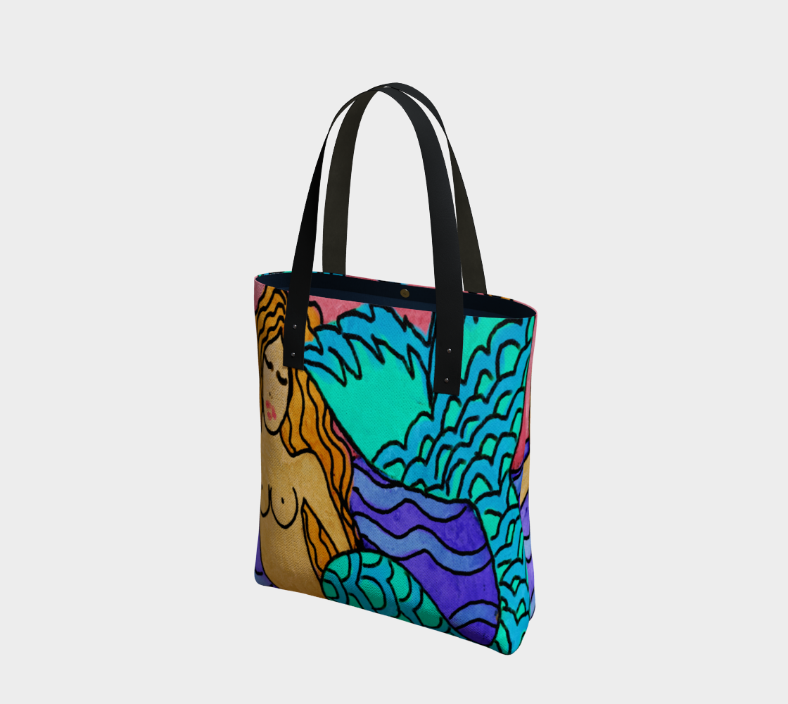Colorful Abstract Mermaid Painting Shoulder Bag preview
