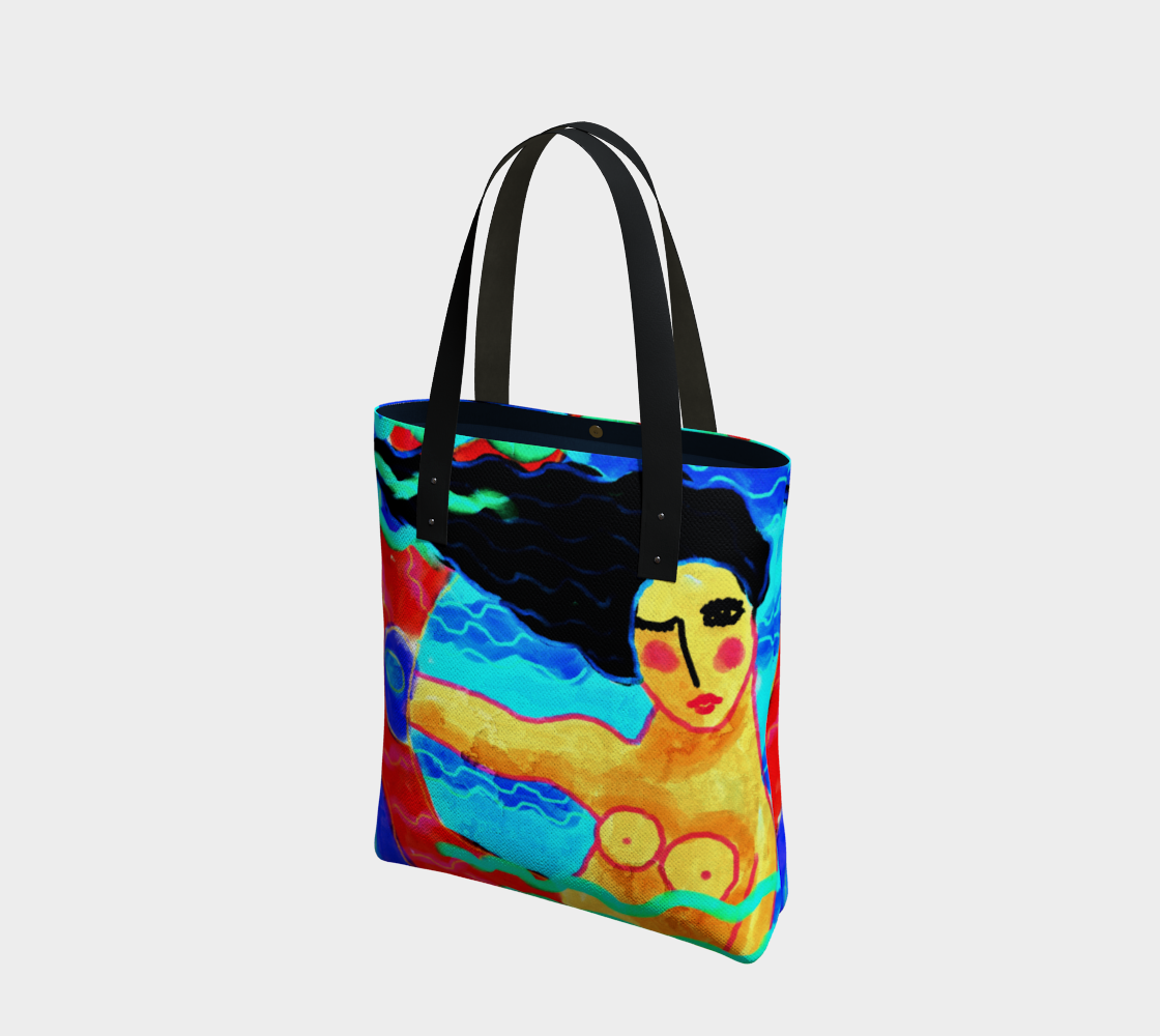 Funky Abstract Mermaid Print Shoulder Bag preview