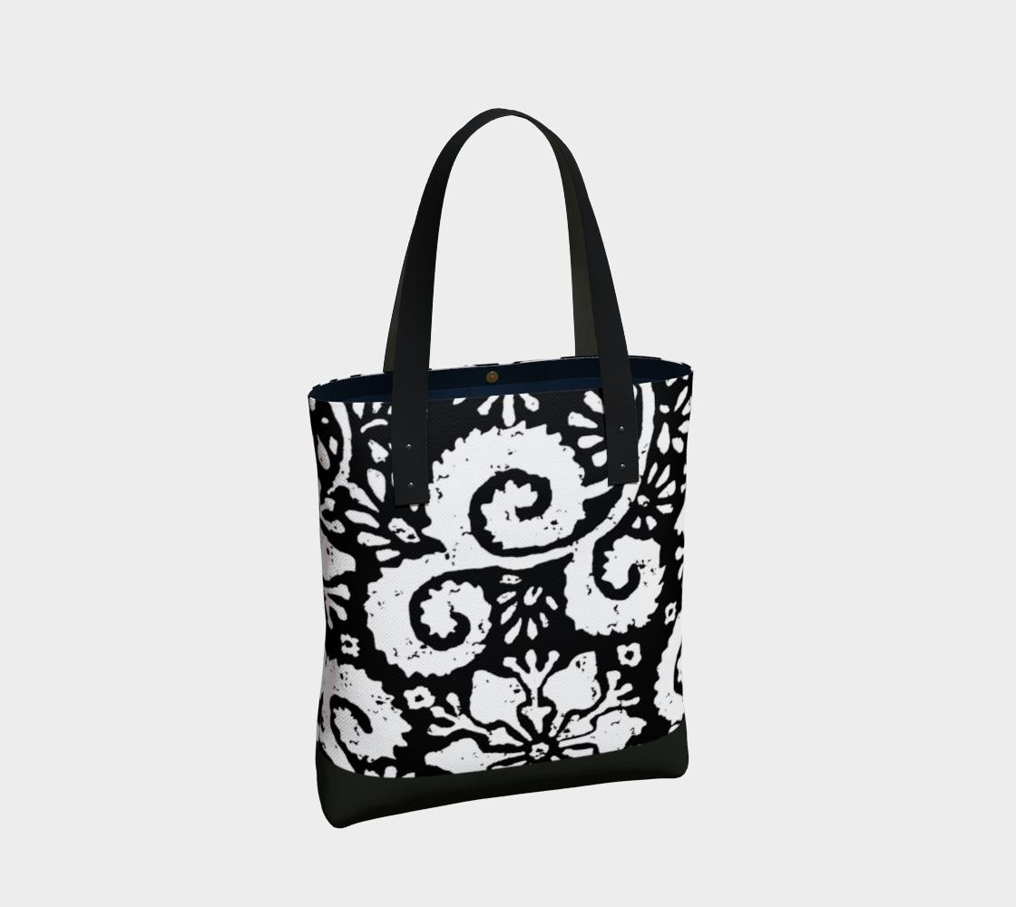 Aperçu de Sac - Design floral noir #2