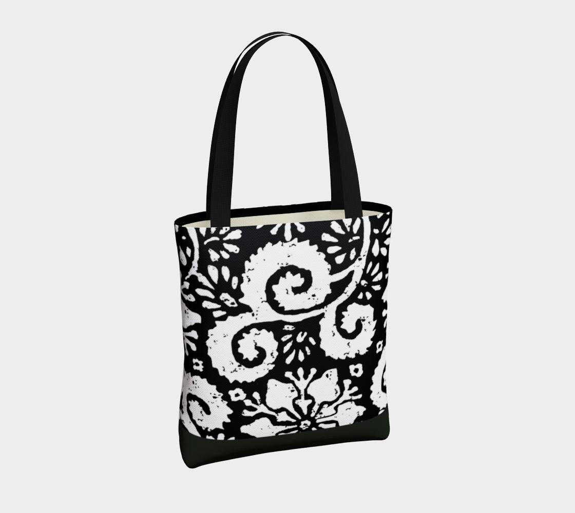 Aperçu de Sac - Design floral noir #4