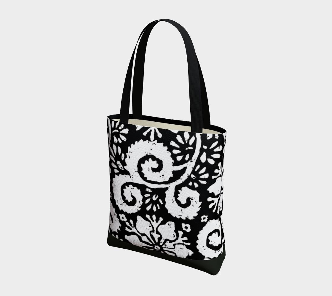 Aperçu de Sac - Design floral noir #3