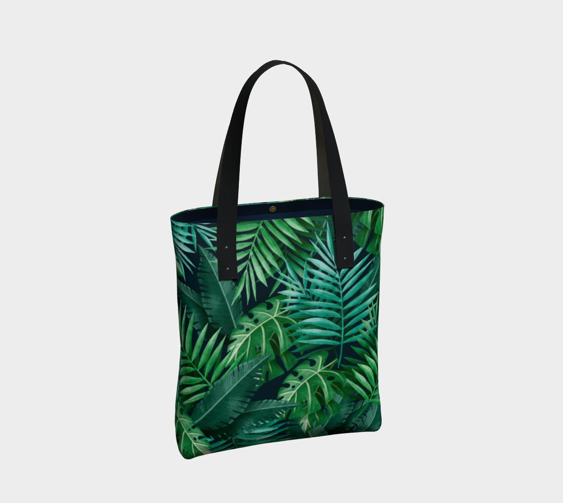 Aperçu de Exotic Jungle Green Leaves #2