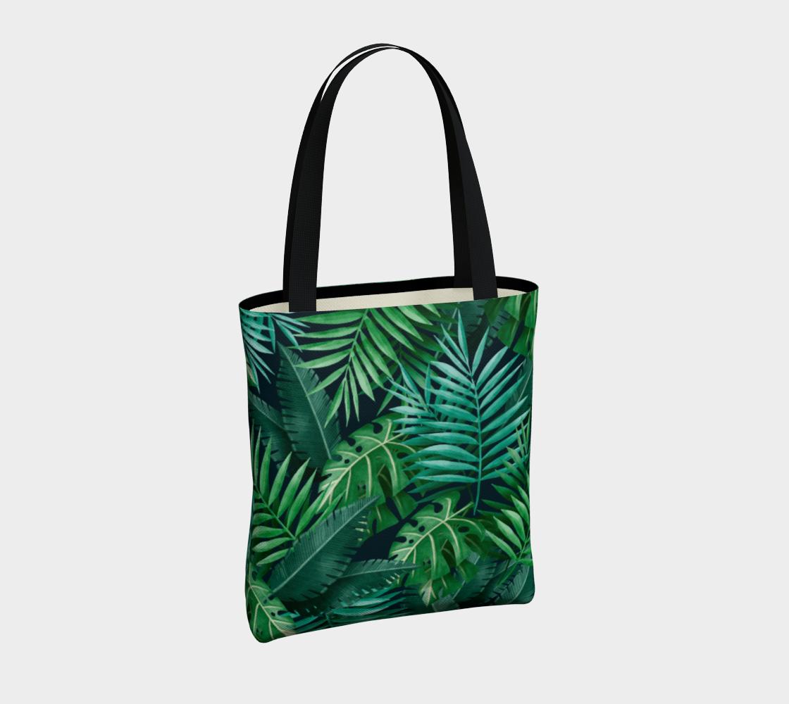 Aperçu de Exotic Jungle Green Leaves #4