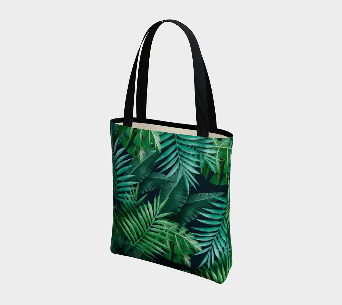 Aperçu de Exotic Jungle Green Leaves #3