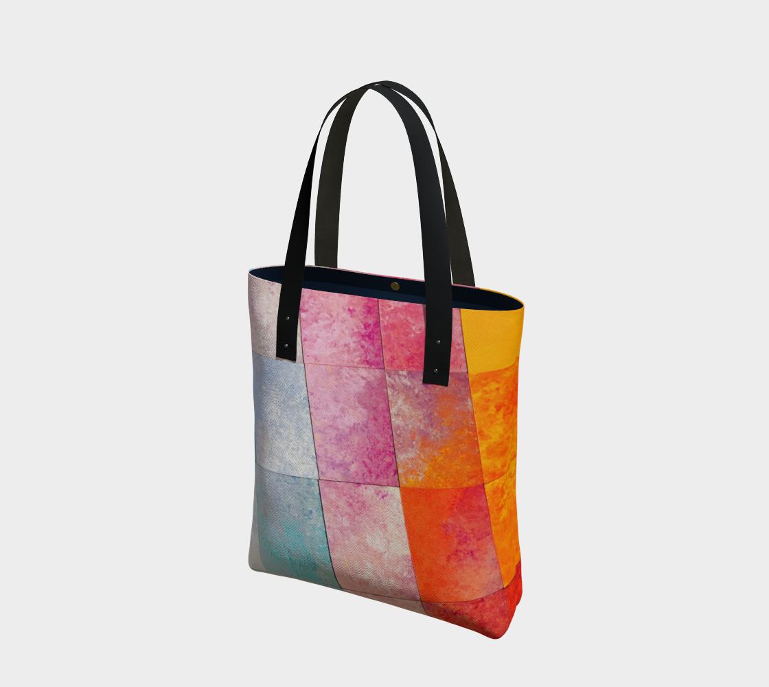 diagonal color blocks preview