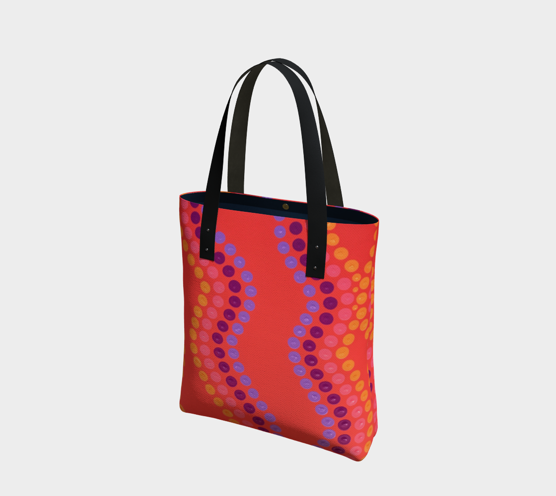 wildfire dot tote bag preview