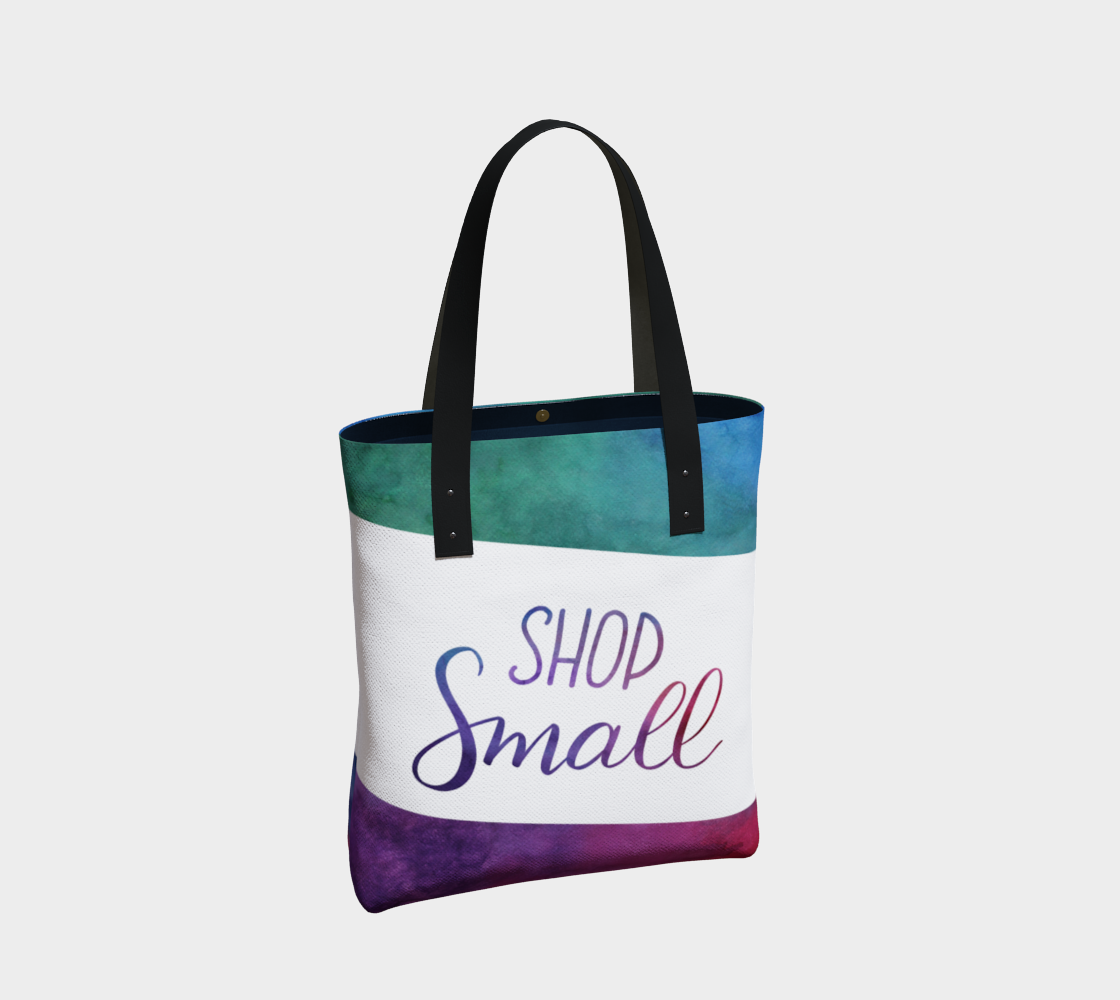 Shop Small - multicolour watercolour background with white banner preview #2