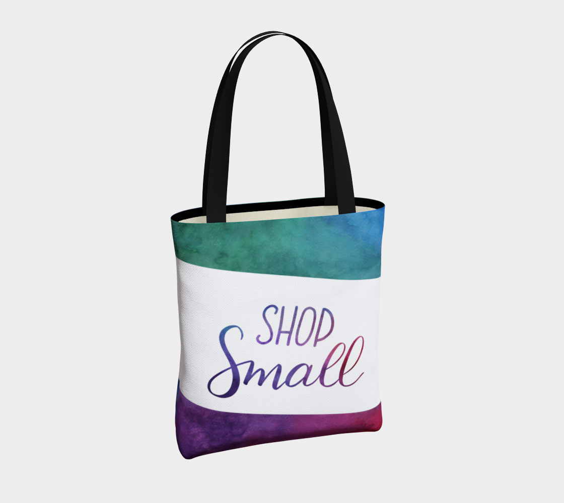 Shop Small - multicolour watercolour background with white banner preview #4