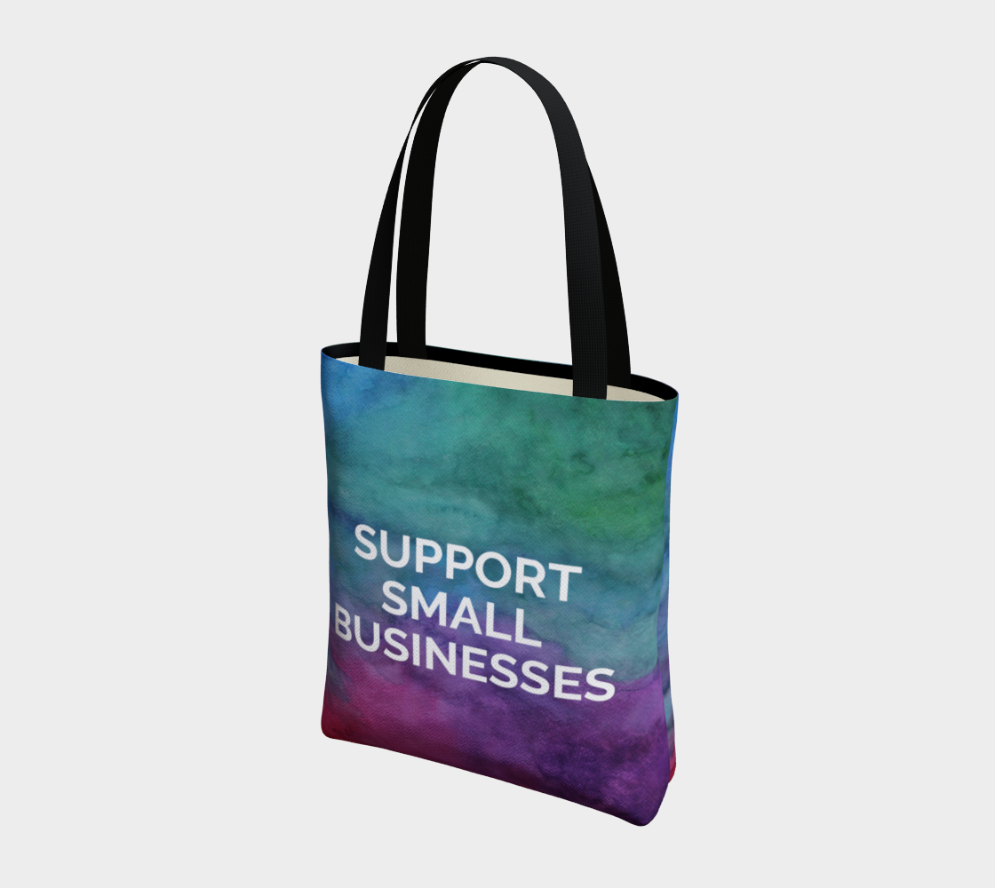 Support Small Businesses - multicolour watercolour background with white text preview #3