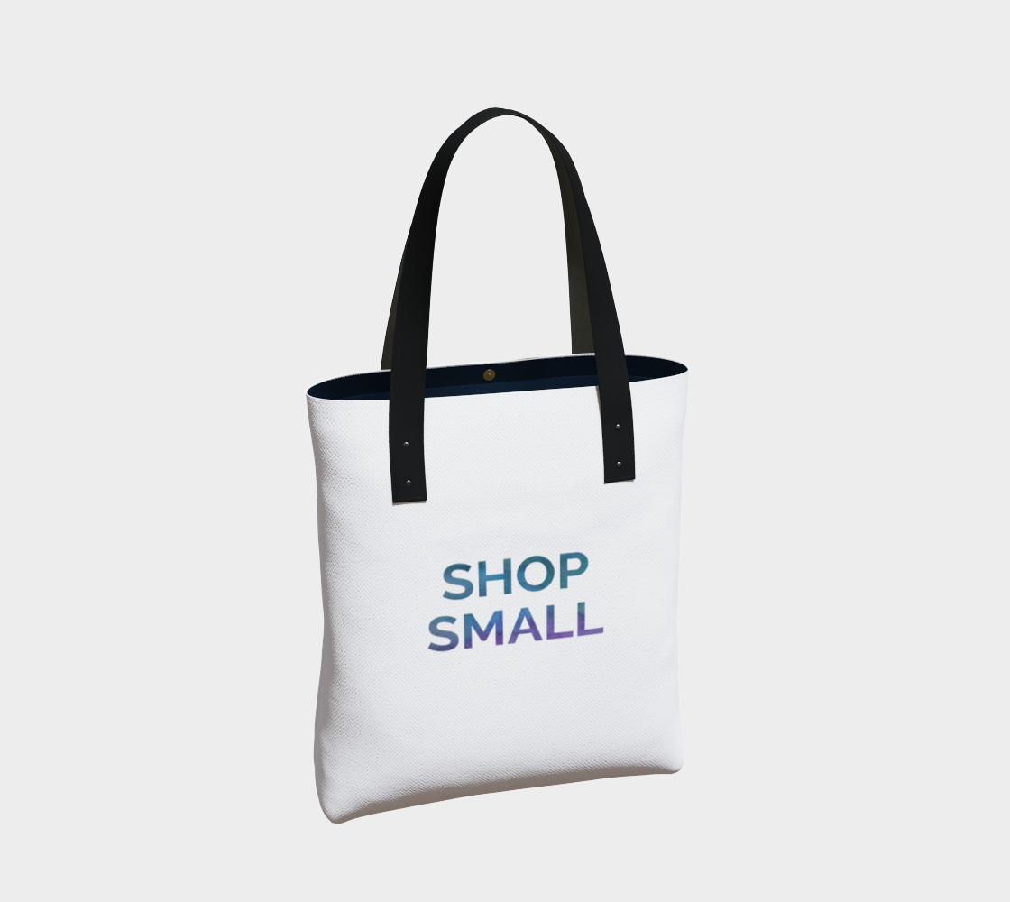 Shop Small - white background multicolour text preview #2