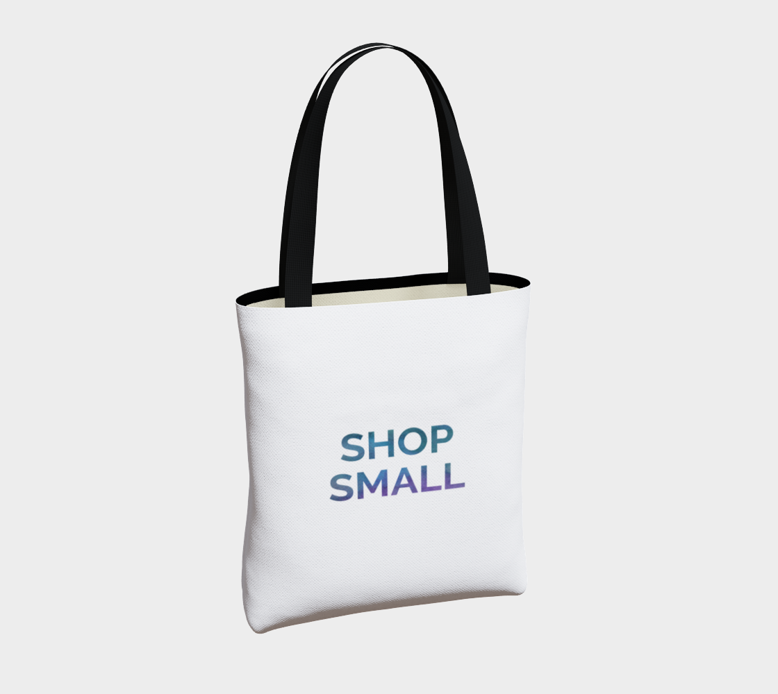 Shop Small - white background multicolour text preview #4
