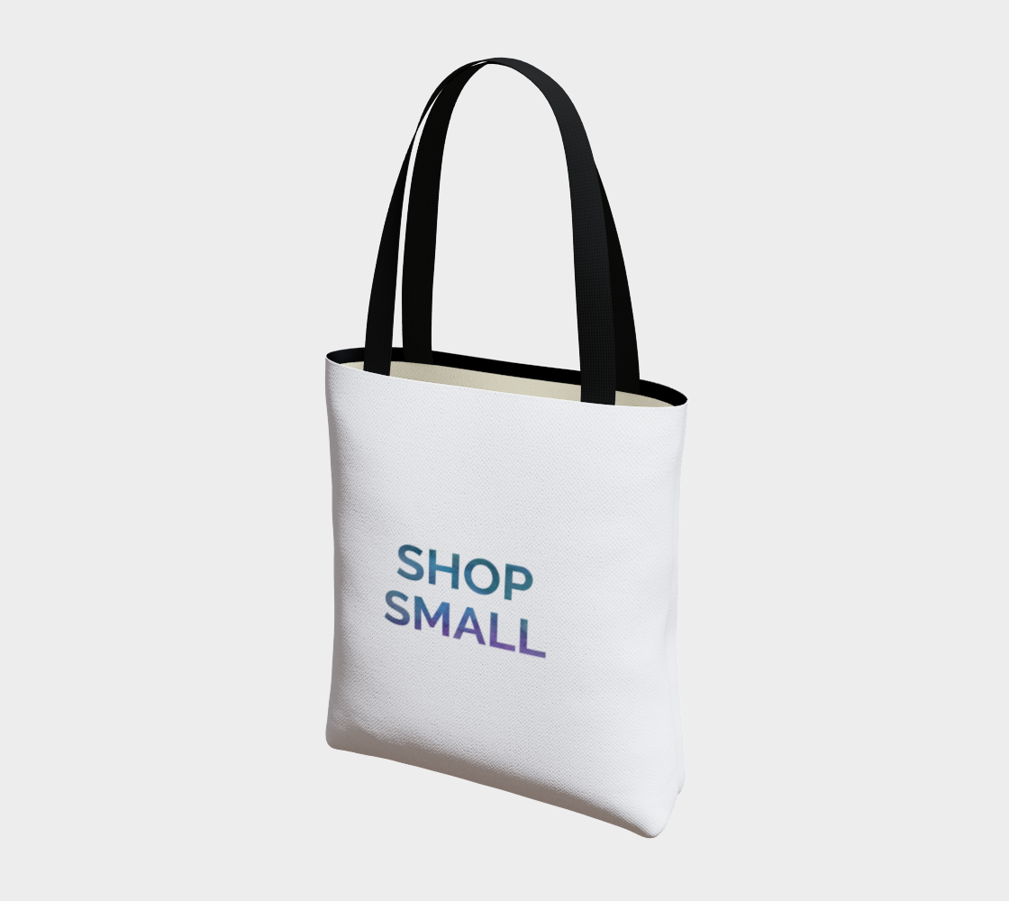 Shop Small - white background multicolour text preview #3