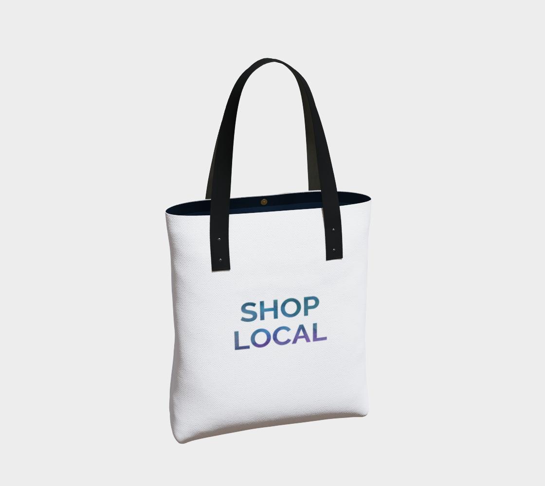 Shop Local - white background multicolour text preview #2