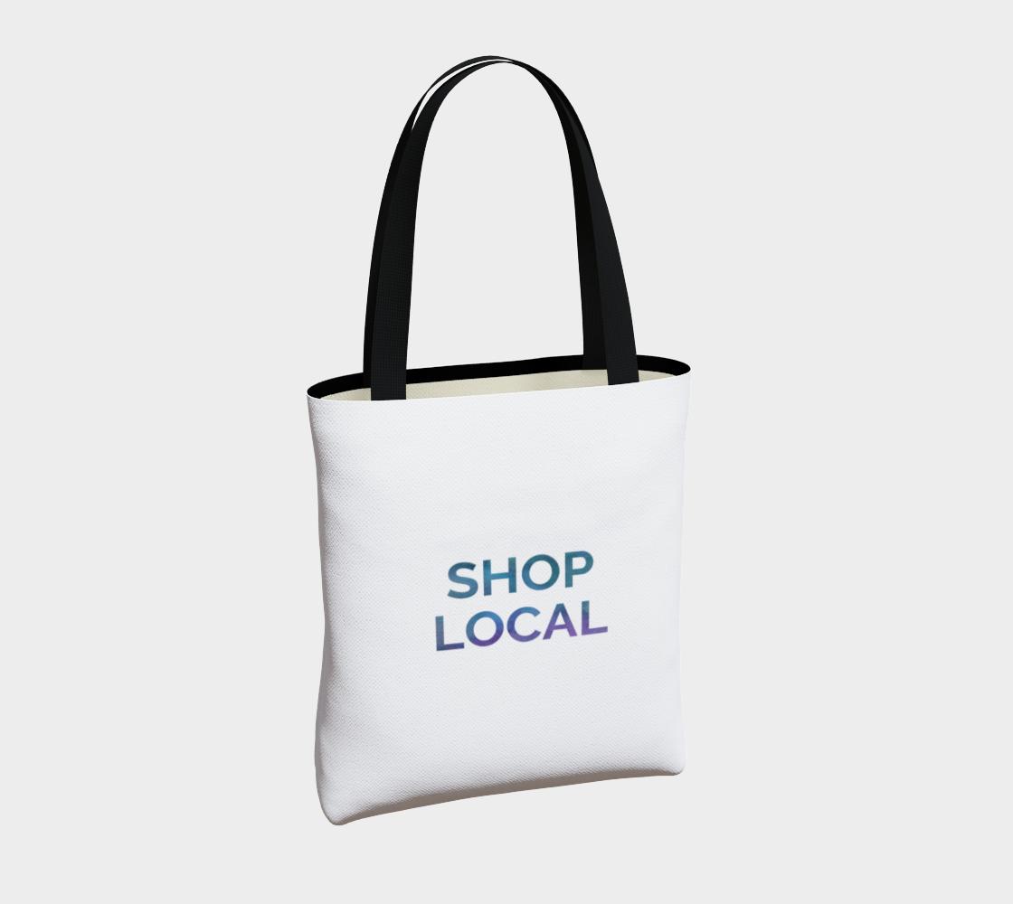 Shop Local - white background multicolour text preview #4