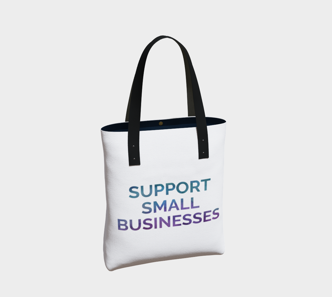 Support Small Businesses - white background multicolour text preview #2