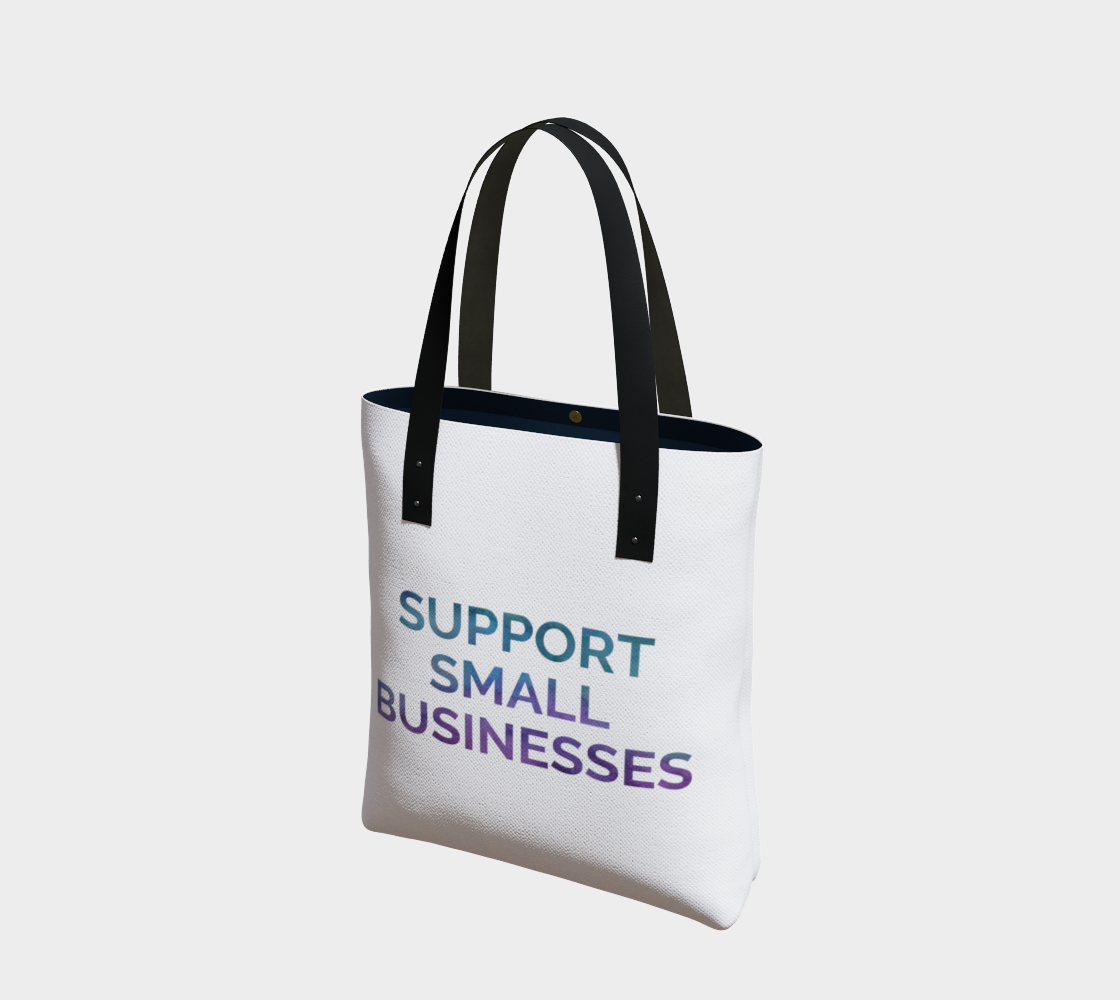 Support Small Businesses - white background multicolour text preview