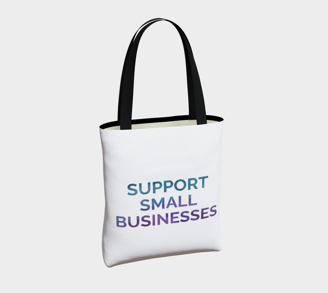 Support Small Businesses - white background multicolour text preview #4