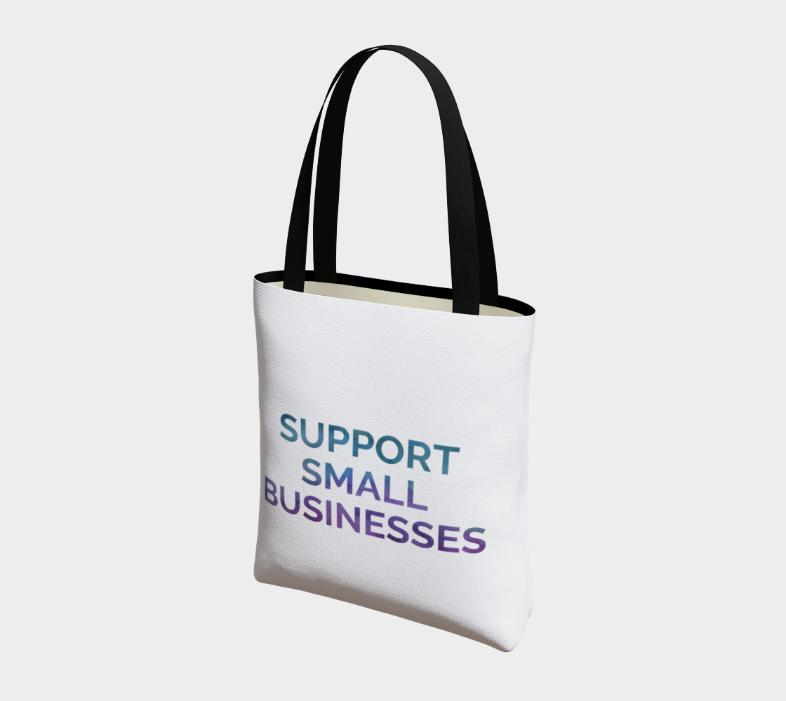 Support Small Businesses - white background multicolour text preview #3