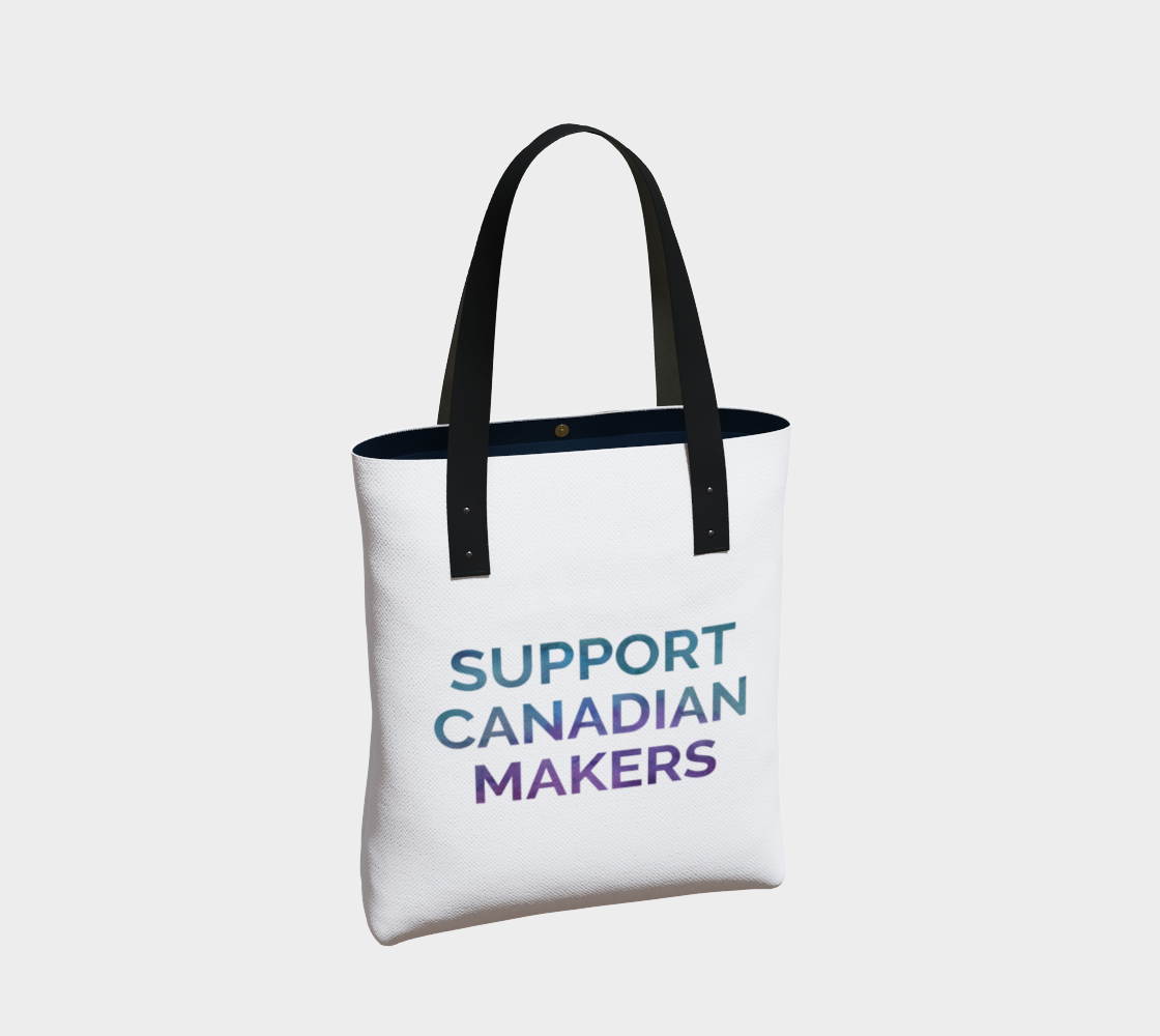Support Canadian Makers - white background multicolour text preview #2