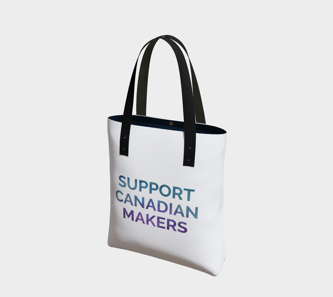 Support Canadian Makers - white background multicolour text preview