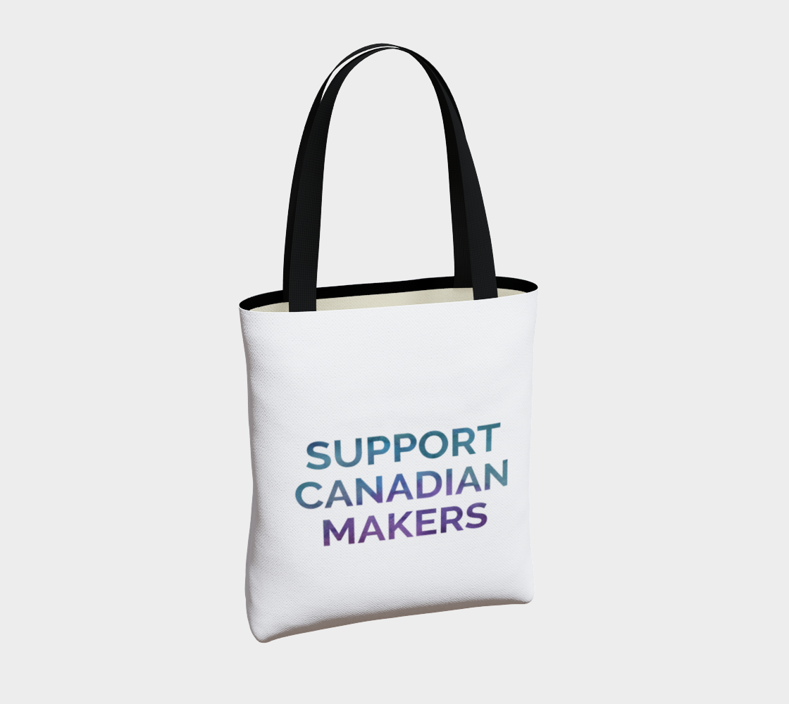 Support Canadian Makers - white background multicolour text preview #4