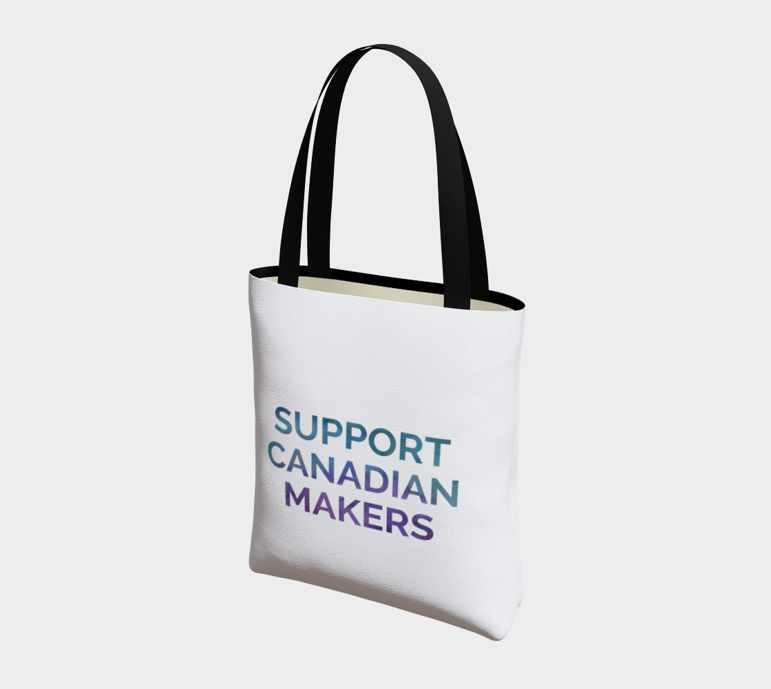 Support Canadian Makers - white background multicolour text preview #3