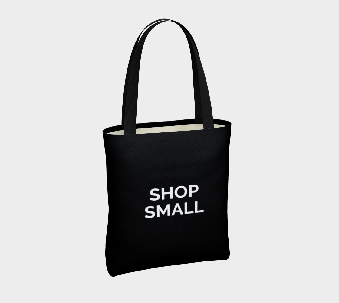 Shop Small - black background with white text preview #4