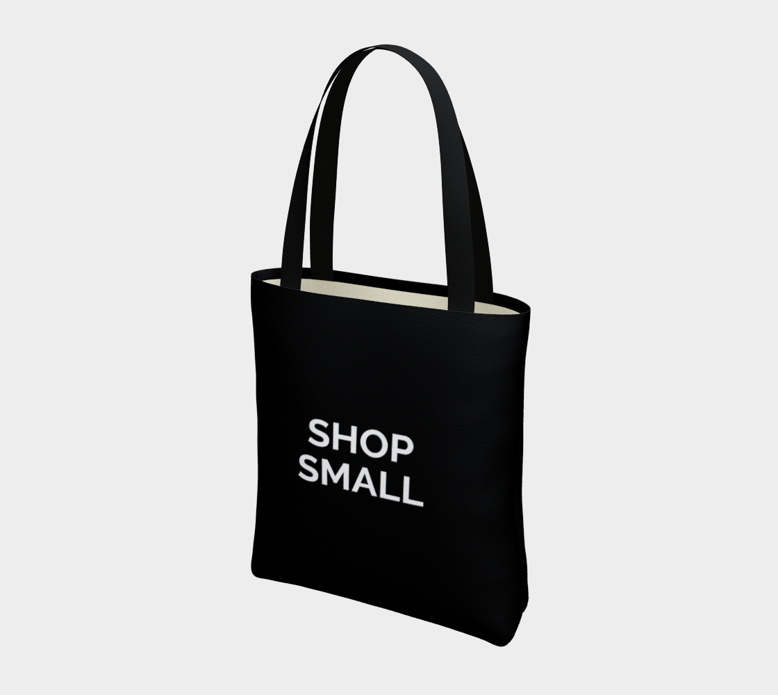 Shop Small - black background with white text preview #3