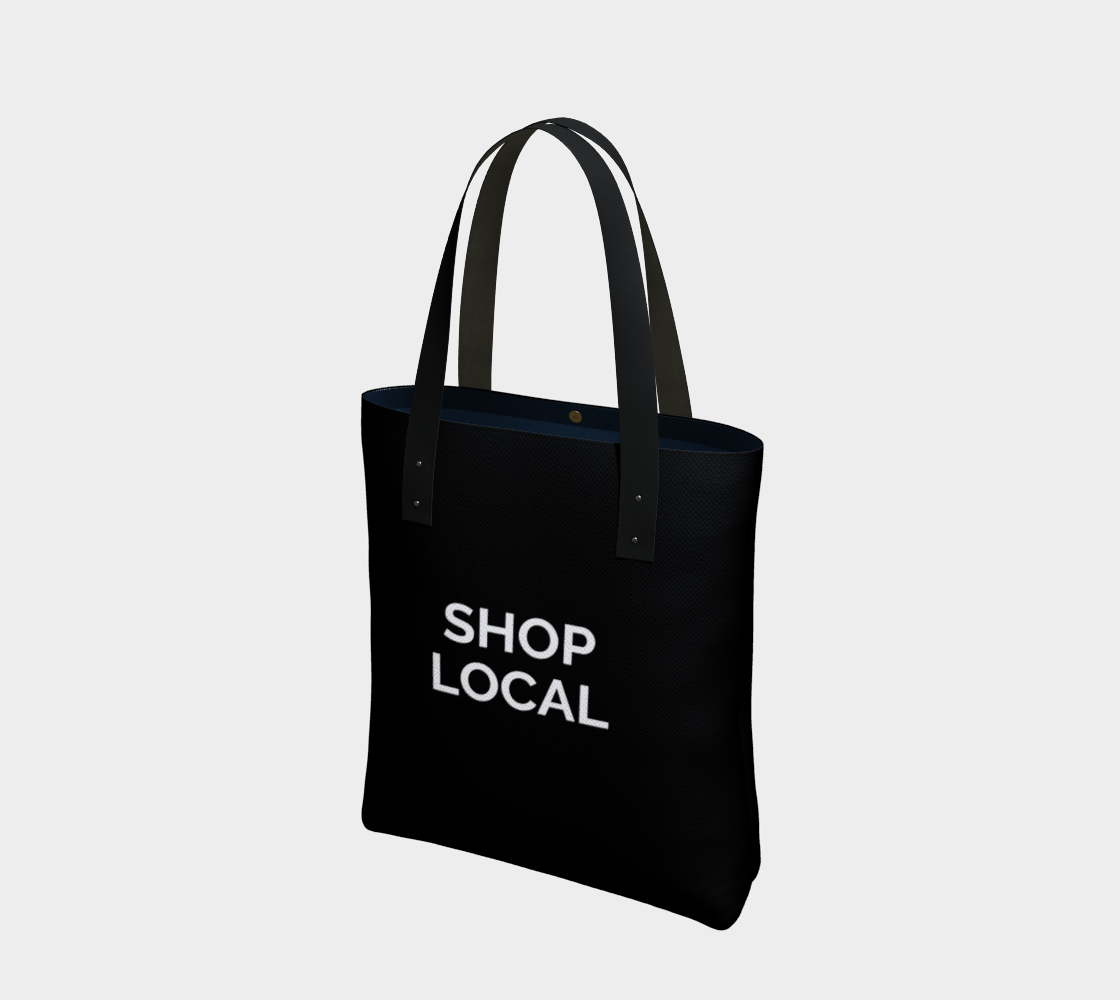 Shop Local - black background with white text preview