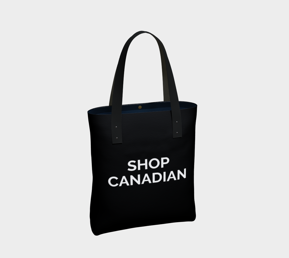 Shop Canadian - black background with white text preview #2