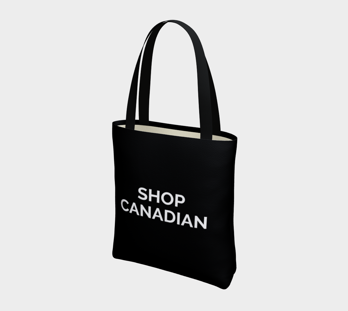 Shop Canadian - black background with white text preview #3