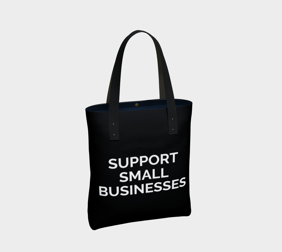 Support Small Businesses - black background with white text preview #2