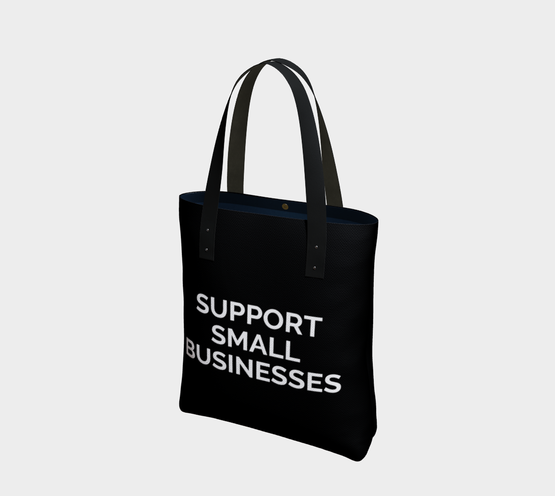 Support Small Businesses - black background with white text preview