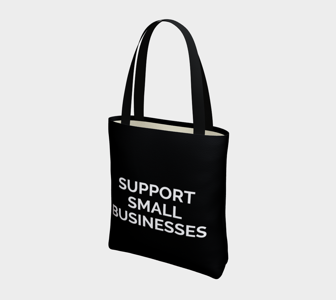 Support Small Businesses - black background with white text preview #3