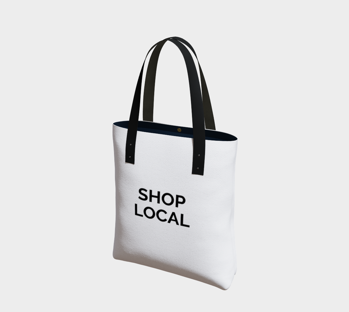 Shop Local - white background with black text preview