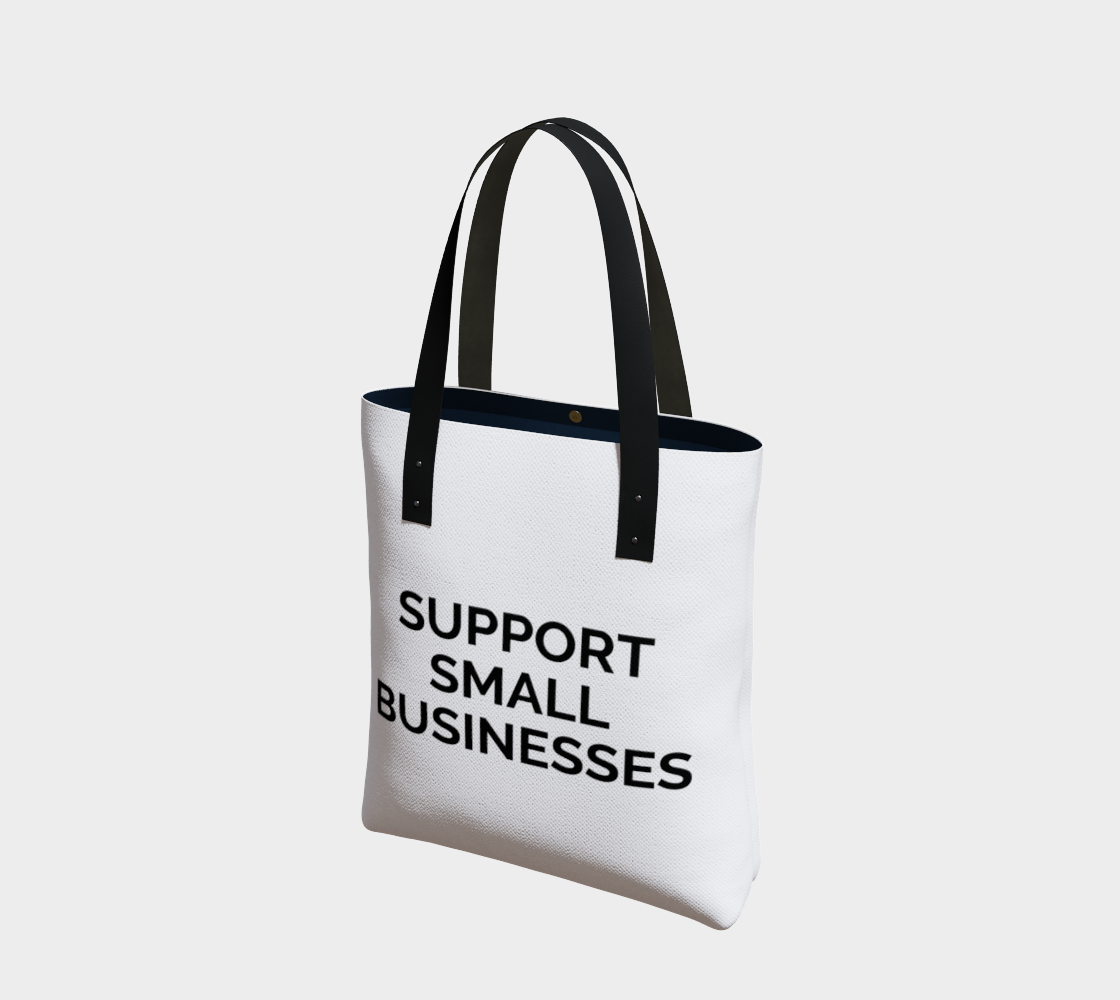 Support Small Businesses - white background with black text preview