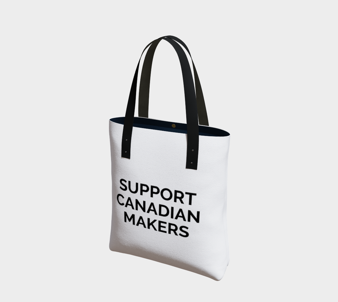 Support Canadian Makers - white background with black text preview