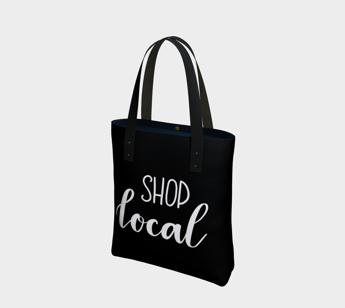 Shop Local - black background with white lettering preview