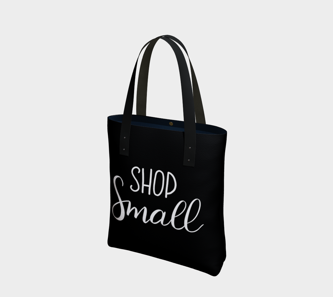 Shop Small - black background with white lettering preview