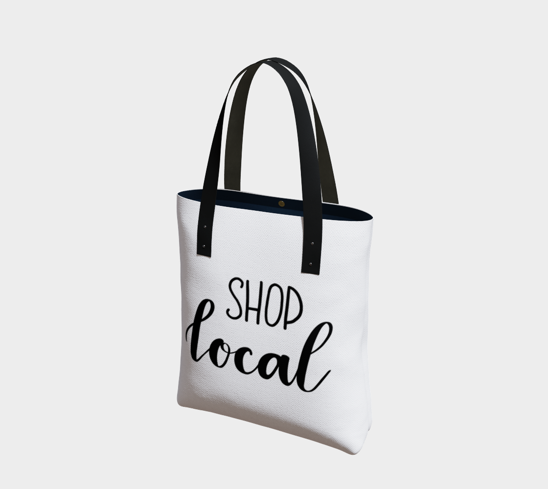 Shop Local - white background with black lettering preview
