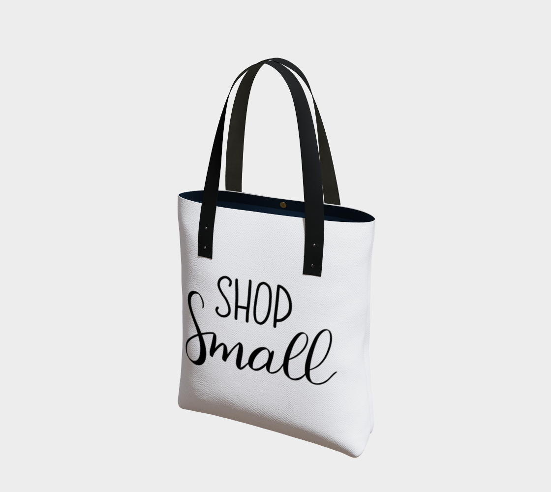 Shop Small - white background with black lettering preview
