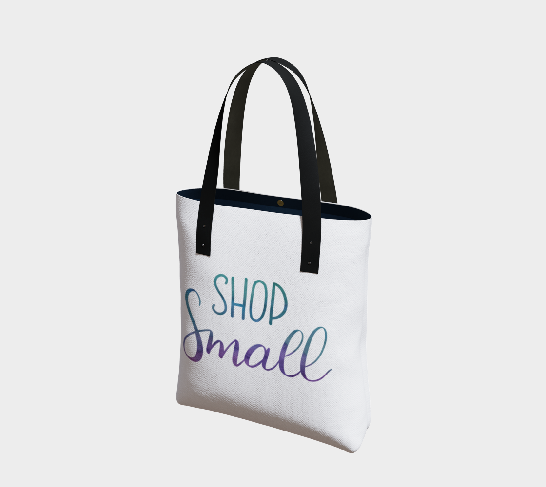 Shop Small - white background with multicolour lettering preview