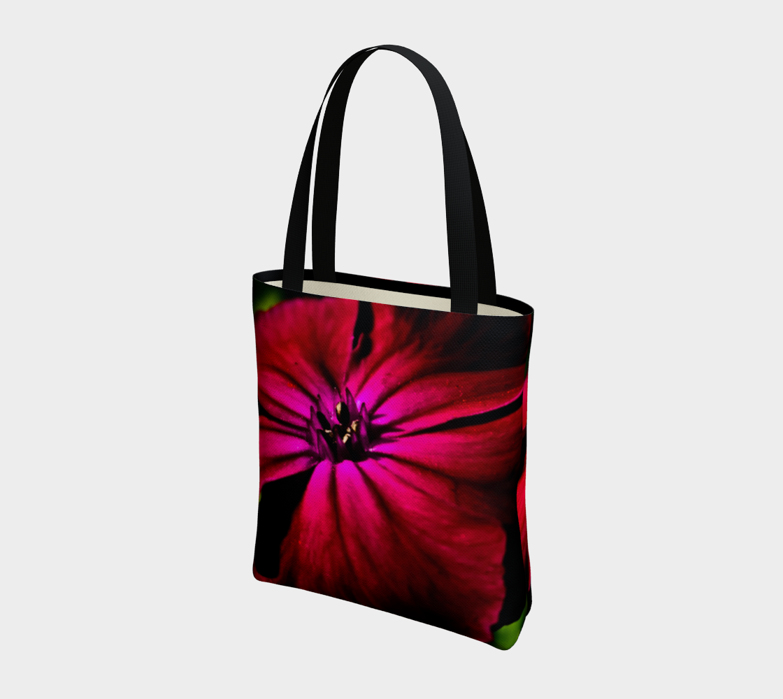 Purple Wild Flower Tote Bag preview #3