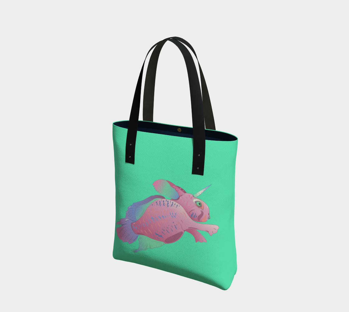 Sea Bunny with Text in Sea Green preview #1