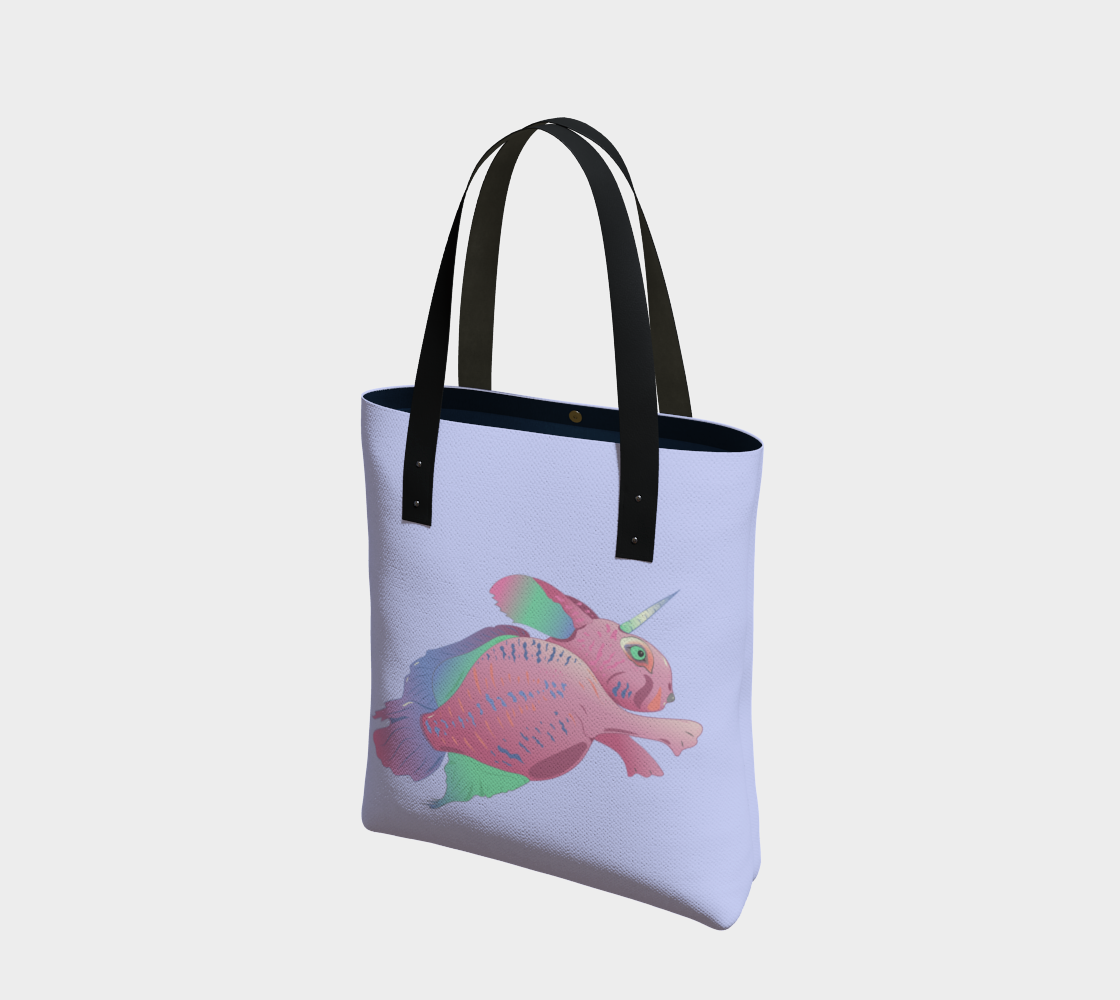 Sea Bunny w Text in Light Lilac preview