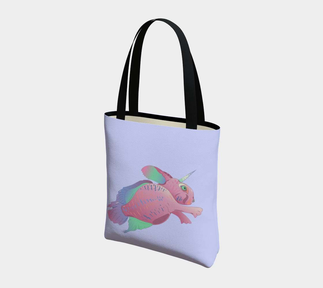 Sea Bunny w Text in Light Lilac preview #3
