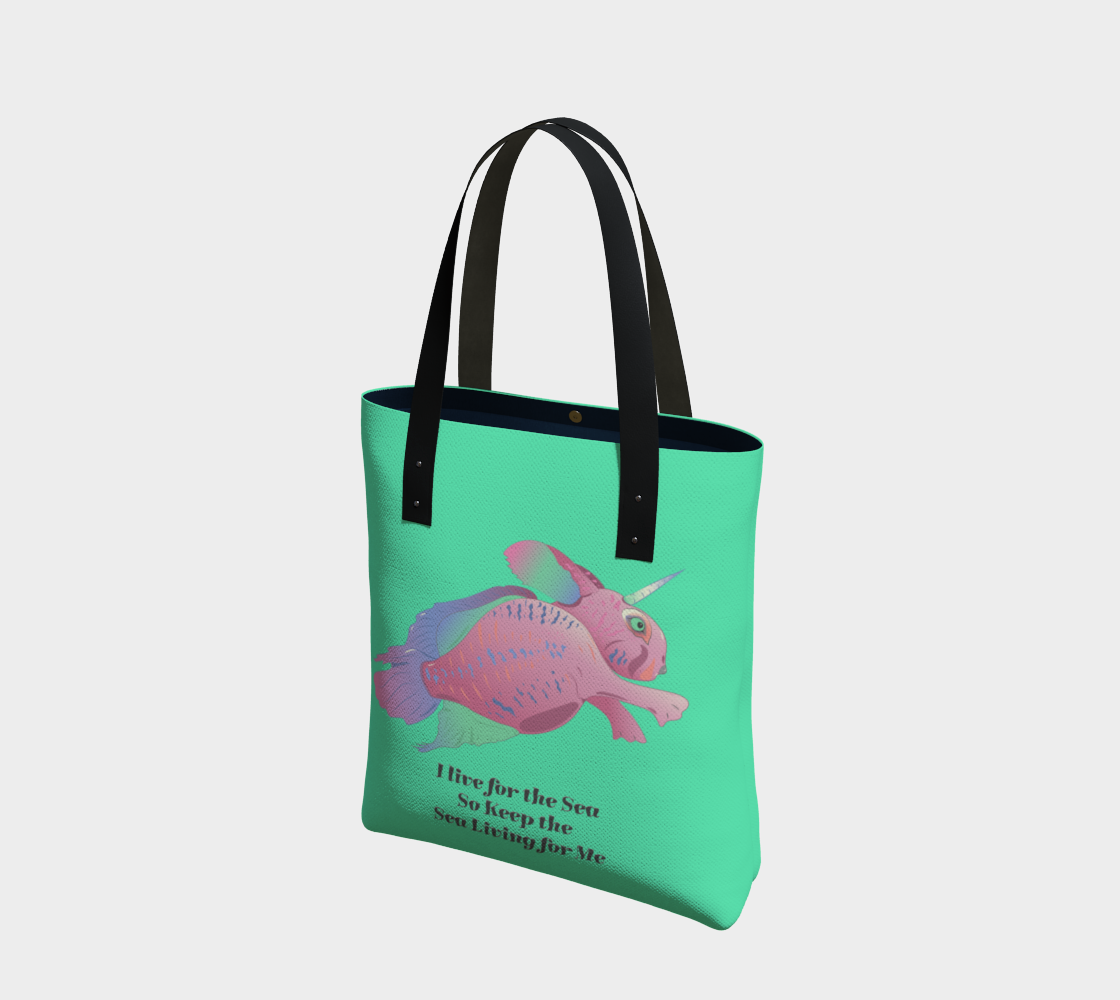 Sea Bunny w Text in Front - Sea Green preview