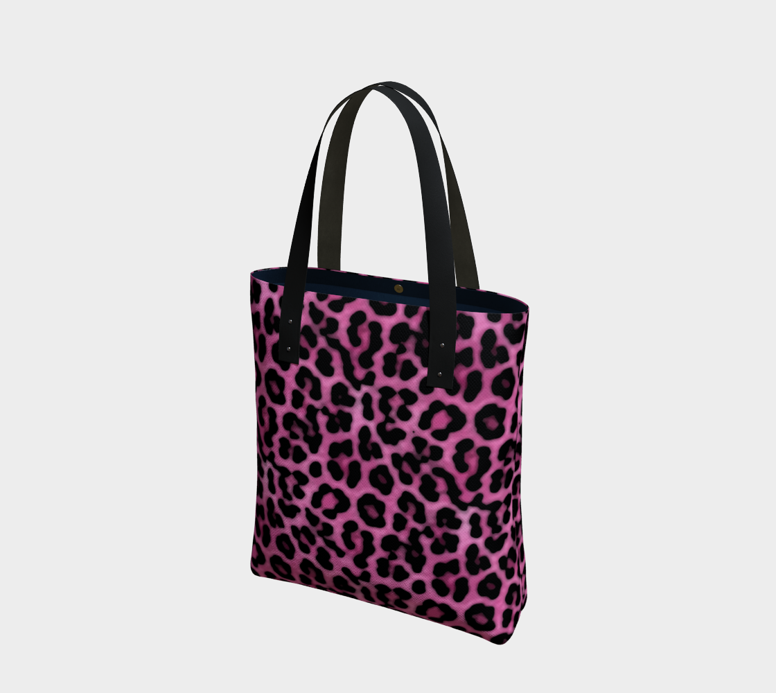 Aperçu de Pink Leopard Print Fur Spots Pattern
