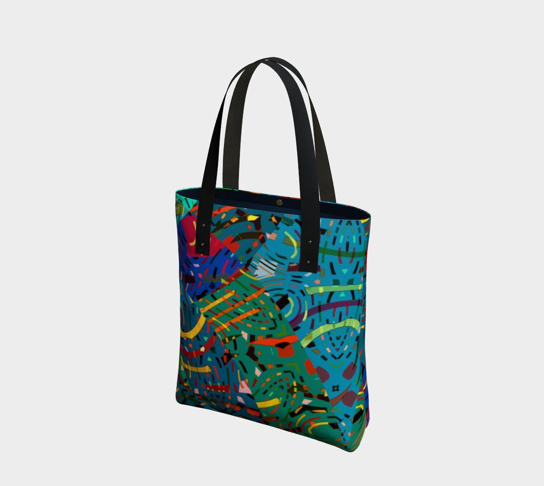 Aperçu de Colorful Art Collage Tote Bag